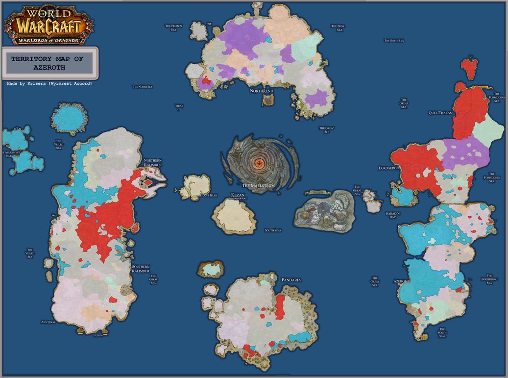 New Territory Map of Azeroth [[6.1]] by joeltopian on DeviantArt