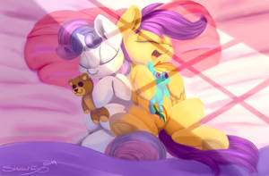 Sleepy Scoots And Sweetie  Morning