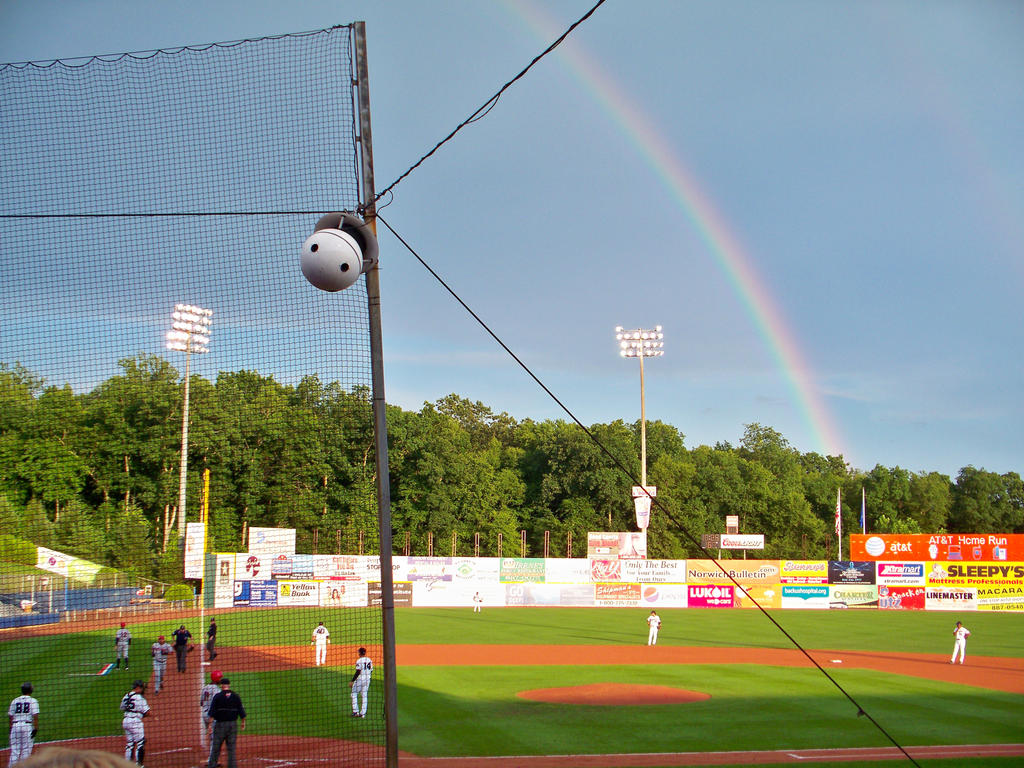 Baseball rainbow by ksouth