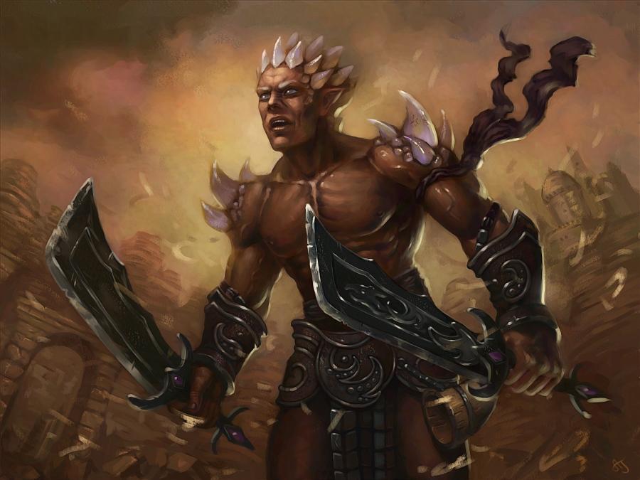 Dragon-warrior by Ann-Jean