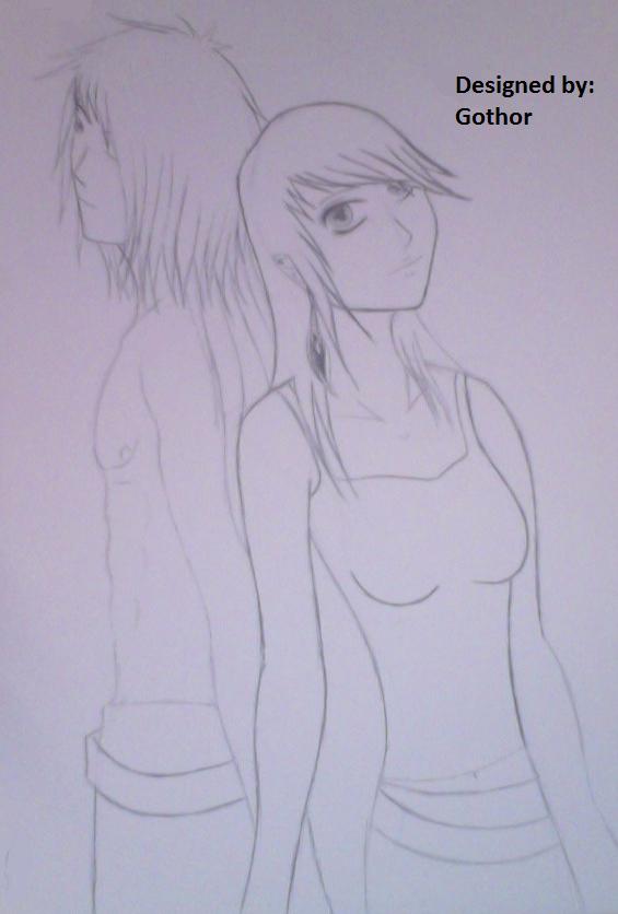 Cute Little Couple by Devious-Archangel