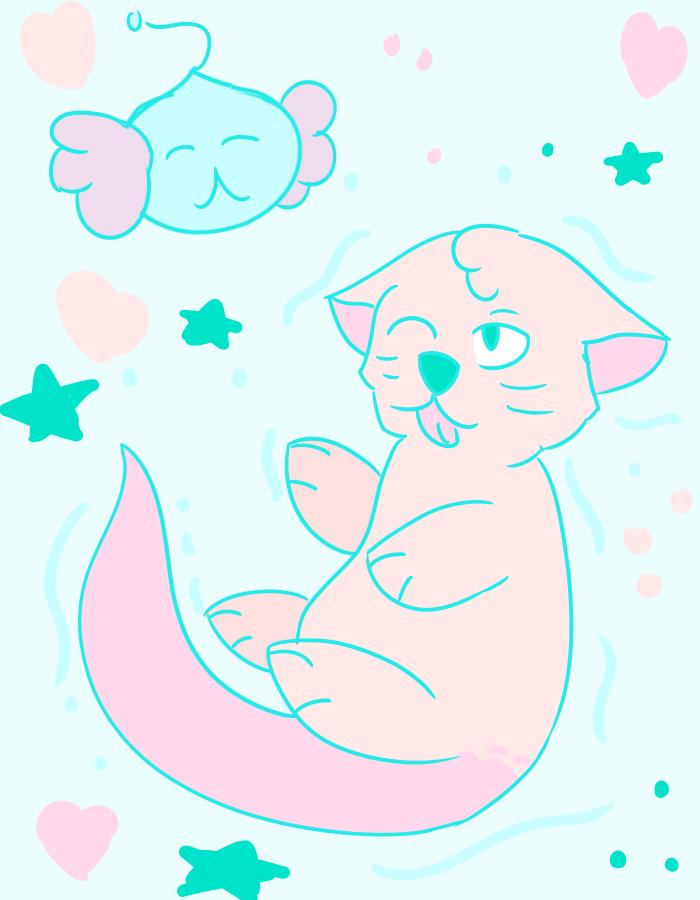 Otter Pop! by Dragonfoxart