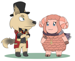 Animal Crossing Dio and Luna