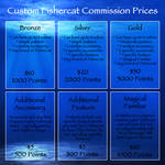 Custom Fishercat Commission Prices by oceanicfishercats
