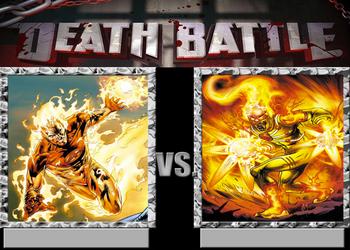 Death Battle!-The Human Torch vs Firestorm by Caharvey