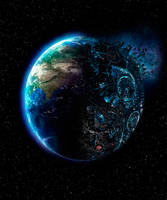 Earth and Cybertron by NeoRock096