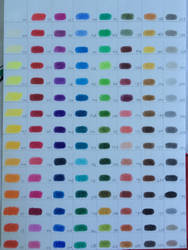 Faber Castell Polychromos Colour Chart by LarissaBoef