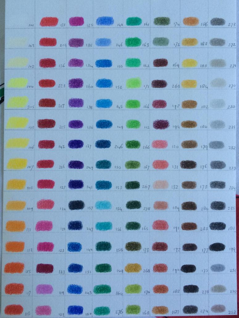 faber castell polychromos color chart pdf