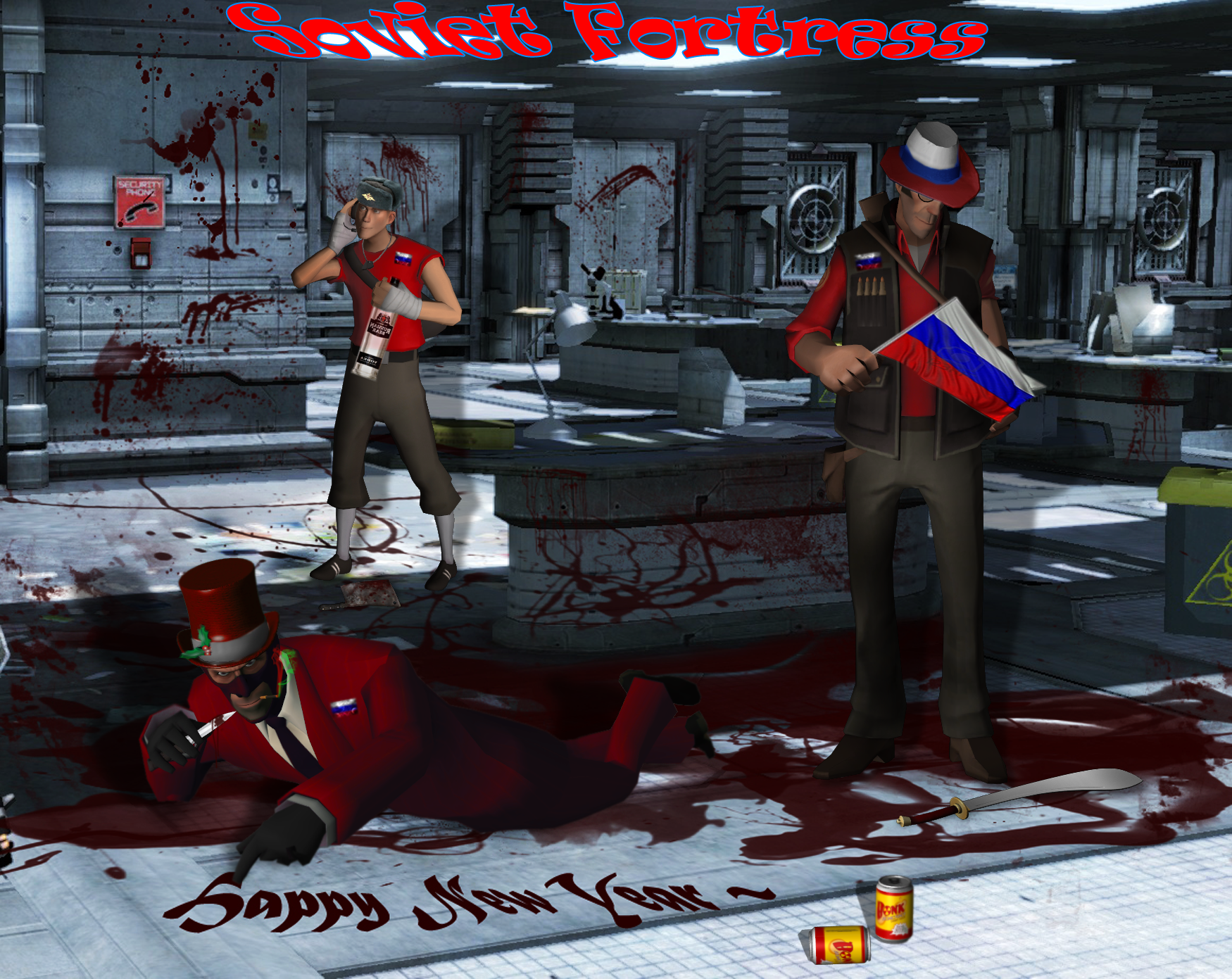 TF2: RED Soviet New Year by SovietMentality