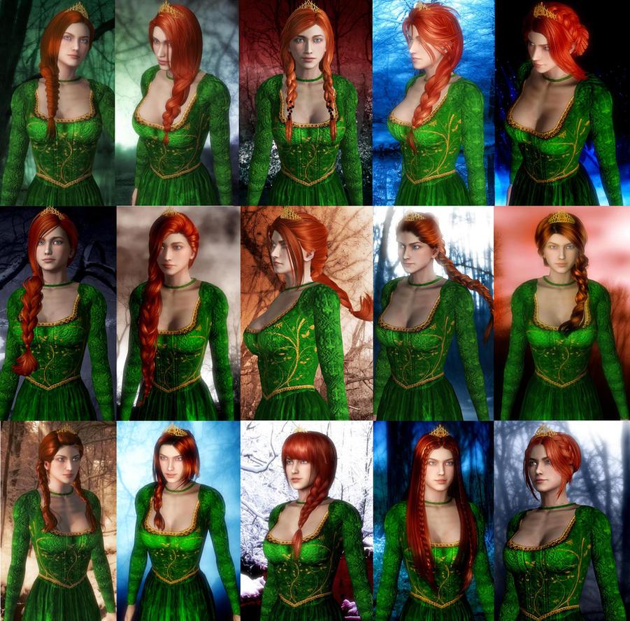 Shrek - Princess Fiona Really loves her braids by SovietMentality