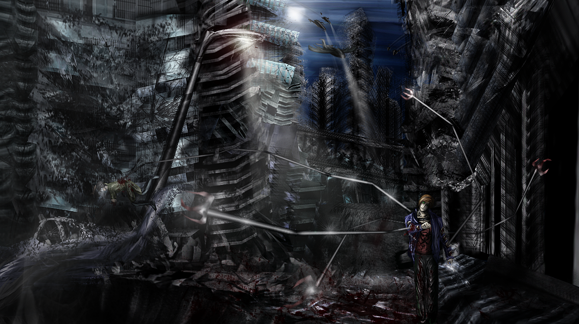 Old destroyed city concept twisted metal by for Concept metal