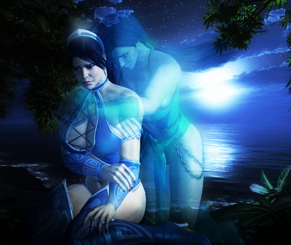 MK - Kitana and Jade - Mournful Night by SovietMentality