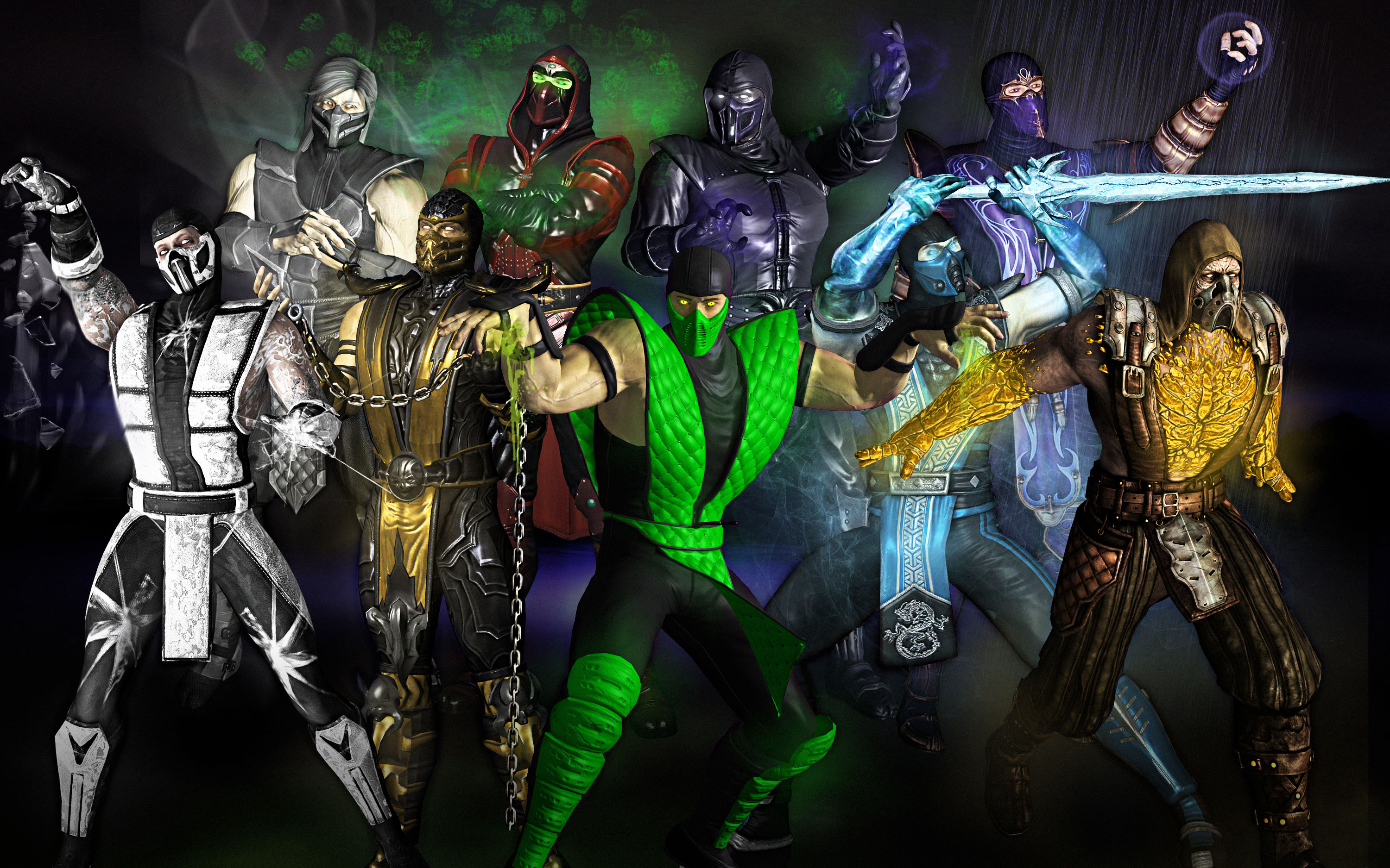 MK Ninjas Color Version - Line Art by DJOK3 by CrescentDebris ...