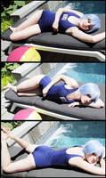 NGE - Rei Ayanami - Swimsuit Cosplay