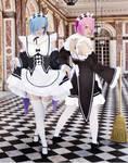 RE Zero - Rem and Ram - Great Maids by SovietMentality