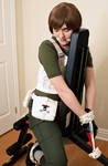 RE0 - Rebecca Chambers - Tied Up in Fitness by SovietMentality