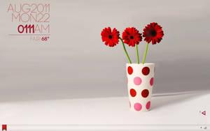 red flowers by lolymoune