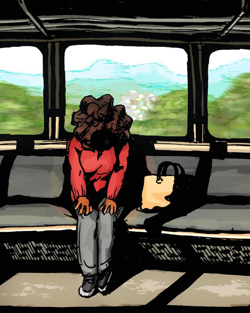 Denshya - Train by SamWallaceArtisan
