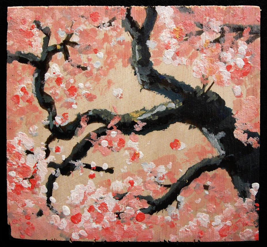 Sakura (Cherry Blossom) Woodblock #1 by SamWallaceArtisan