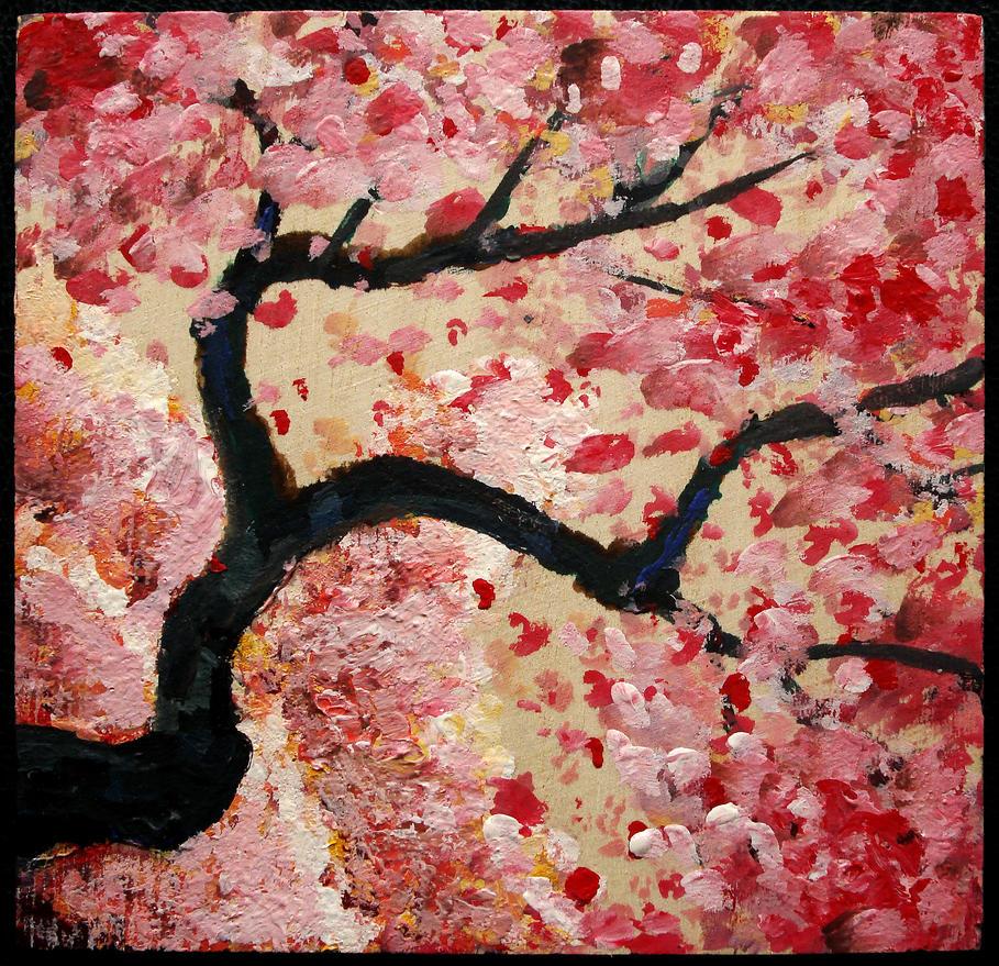Sakura (Cherry Blossom) Woodblock #2 by SamWallaceArtisan