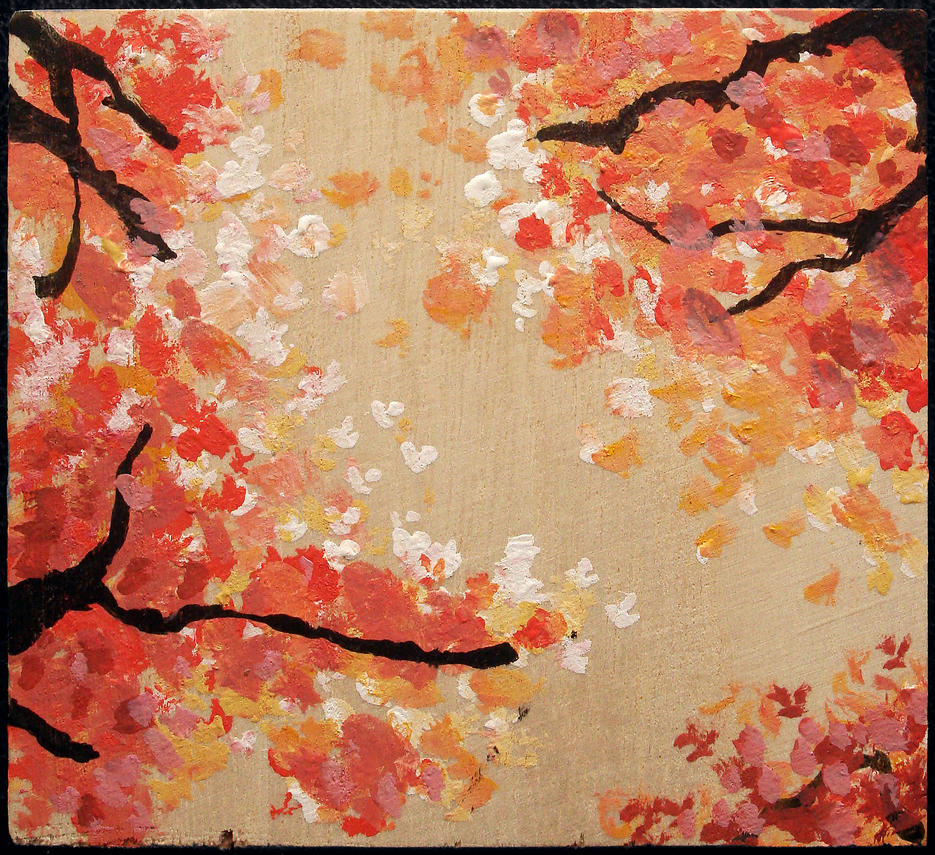 Sakura (Cherry Blossom) Woodblock #3 by SamWallaceArtisan