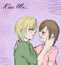 Tamaki and Haruhi: Kiss Me