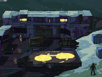Shadow Moses - heliport by art-kit