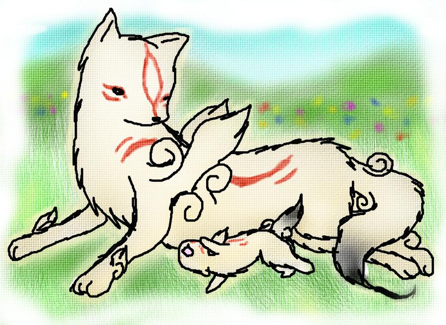Ammy and Chibi: Okamiden by Okami-Amaterasu-chan on DeviantArt