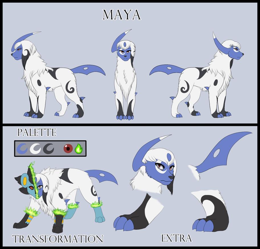 Commission - Maya Reference Sheet by MiaMaha