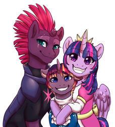MLP - Sparkle Family Portrait by MiaMaha