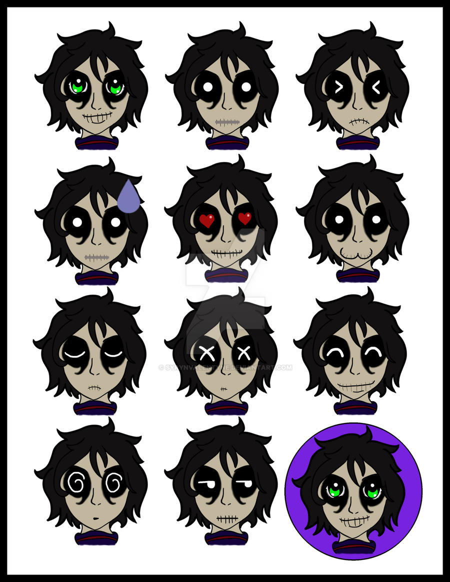 Johnny Reaper Expression Sheet by SyrynValentyne