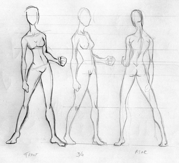 girl body template by cavalars on DeviantArt