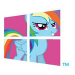 Rainbow dash-Windows-8-Logo