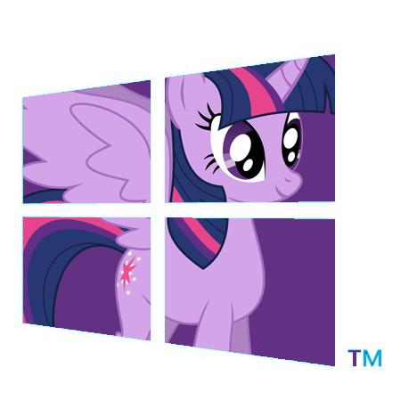 Twilight Sparkle Alicorn logo windows 8