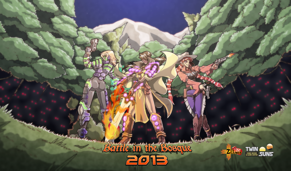Battle in the Bosque 2013 - Mat and Poster Art by FontesMakua