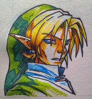 Marker Experiment #001 - Hero of Time by FontesMakua