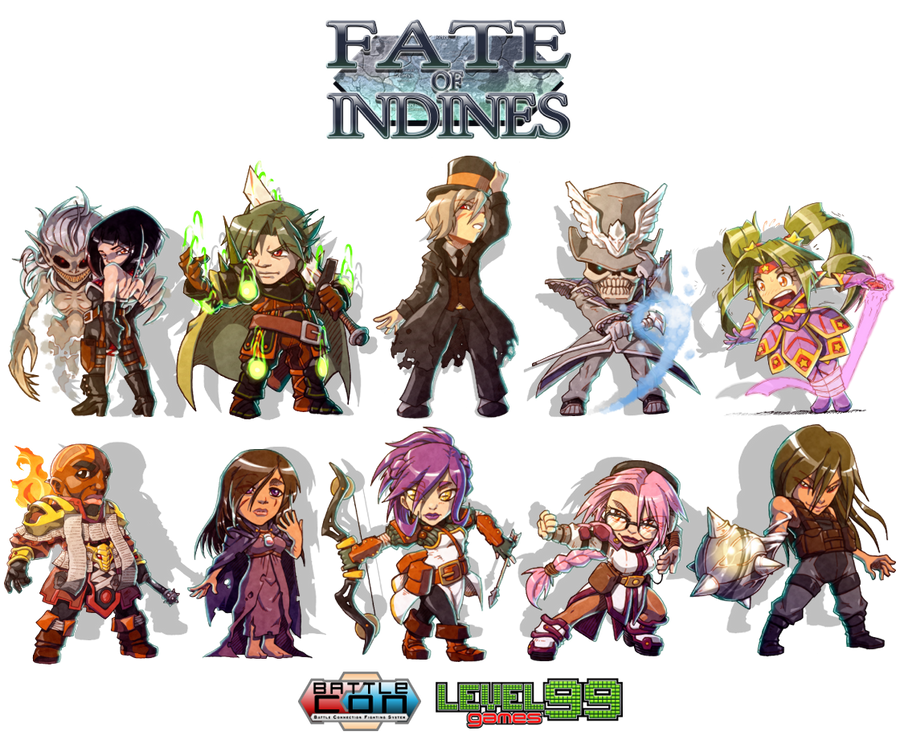 BattleCON Chibis - Fate of Indines by FontesMakua