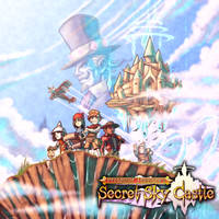 Prof. Treasure's Secret Sky Castle - Cover + Logo by FontesMakua