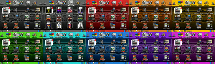 Fontixel Skin Pack for RetroFW firmware by FontesMakua