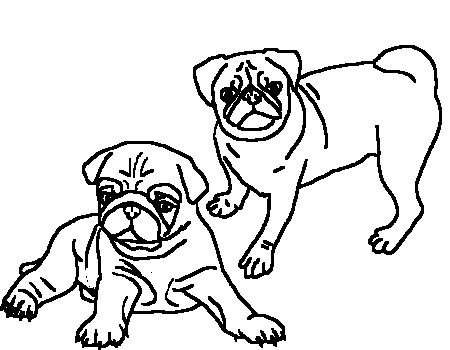coloring pages of pugs - pug bases by hawkstar888 on deviantart