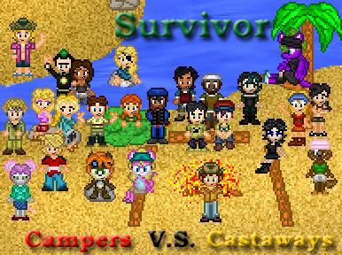 Survivor: Campers Vs Castaways by shadow0knight