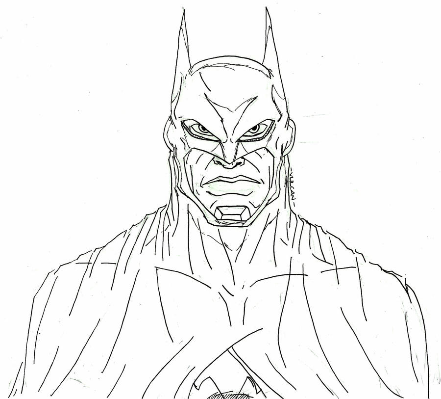 batman no color by lijohn321 - Batman Pictures To Color