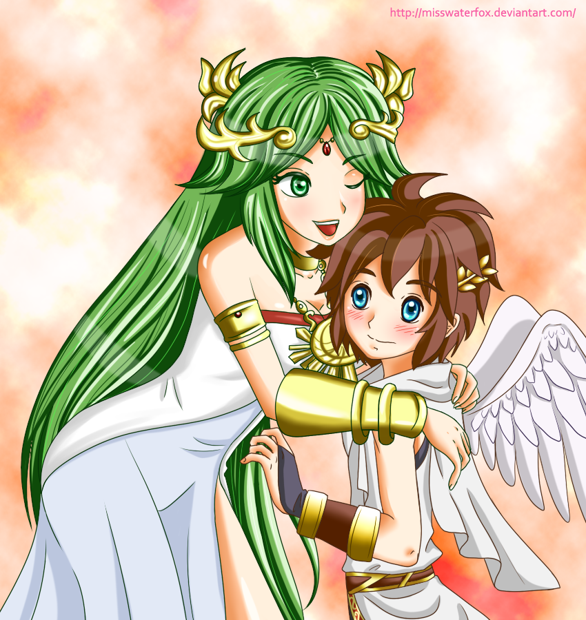 Palutena And Pit By Misswaterfox On DeviantArt