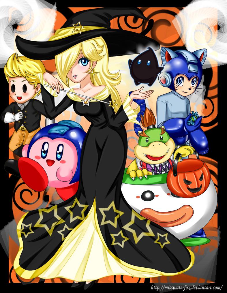 SSB Wii U Halloween by Misswaterfox