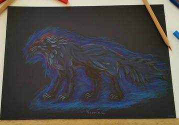 Shadow wolf by Kerriaa1