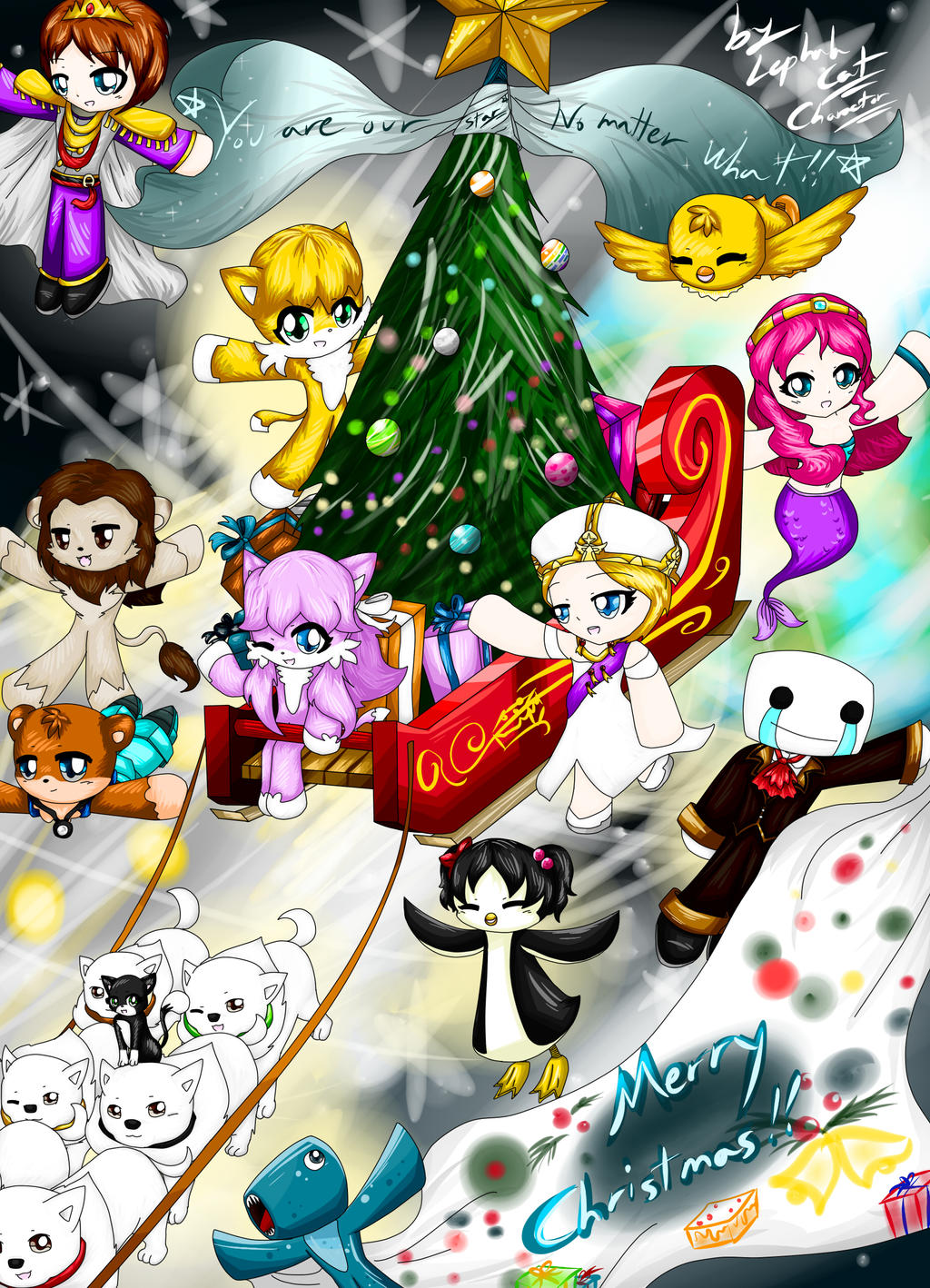 Stampylonghead Christmas.Imagespace Stampylongnose And Iballisticsquid Fan Art
