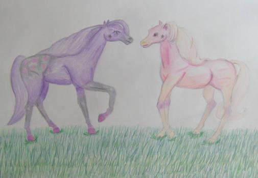 Rose and Violet