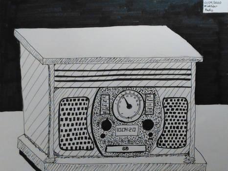 Inktober 2020, Day 4: Radio