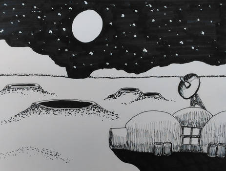 Inktober 2020, Day 15: Outpost