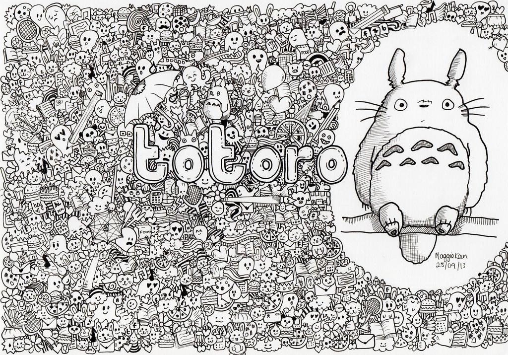 Totoro DoodleArt by MaggieKan on DeviantArt